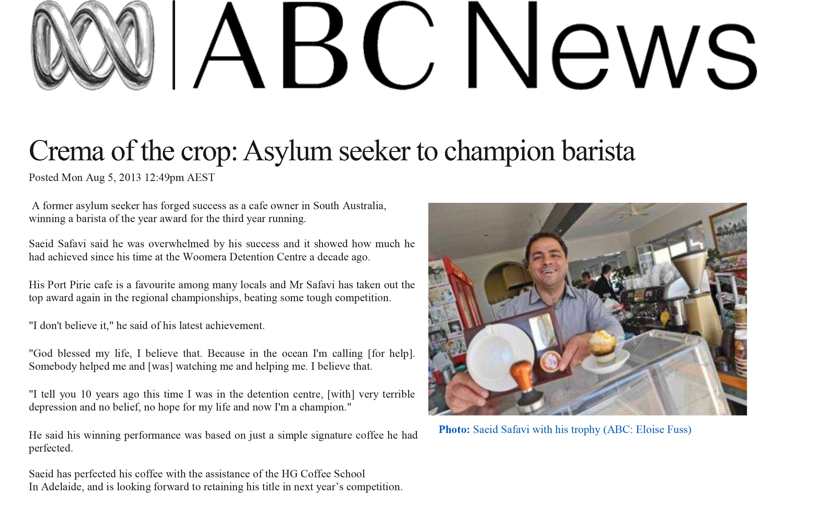 ABC Crema of the crop