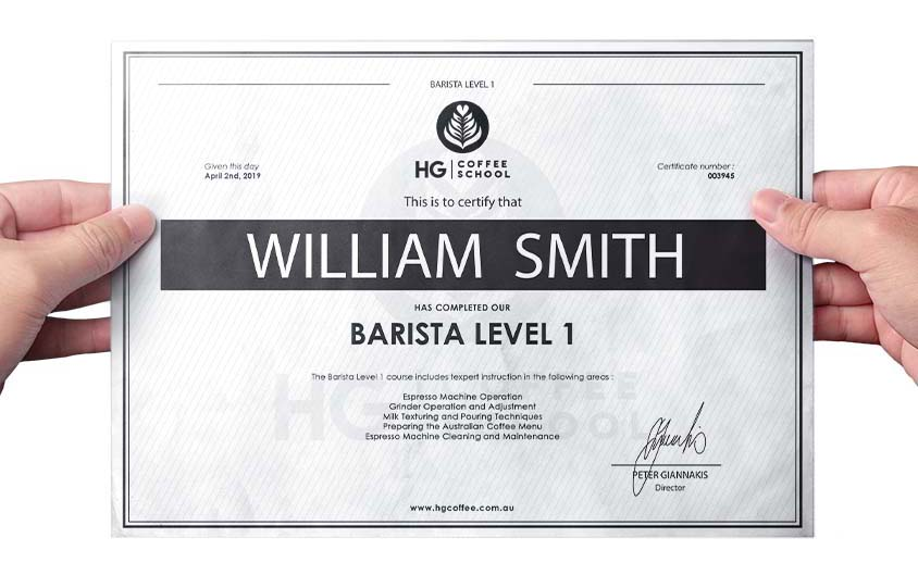 Barista Courses Adelaide Certified
